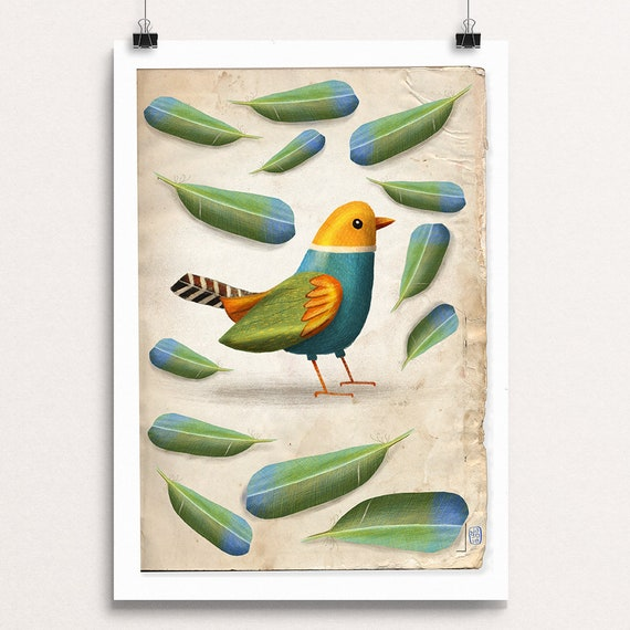 Bird & Feathers - Signed Print
