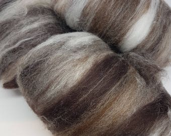 Handcarded batts in Cafe Latte
