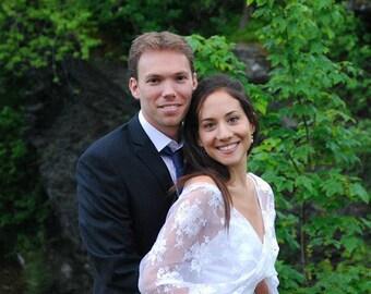 White Lace Wedding Shawl. Bridal White Lace Cover Up. 4- Options Shawl, Shrug, Crisscross Or Scarf. Bridal Cover Up, Wedding Bolero