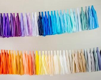 Tassel Garland DIY Kit / Tissue Paper Tassels Garland Kit / Choose your Colors and quantity
