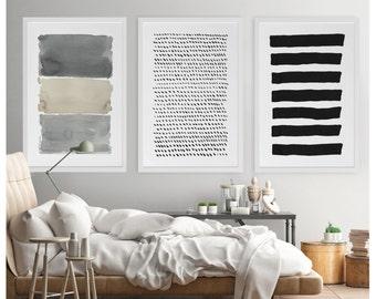Large Abstract Art, Abstract Art, Painting Set, Gray Wall Art, Abstract Watercolor, Extra Large Print, Large Abstract Print,Abstract Artwork