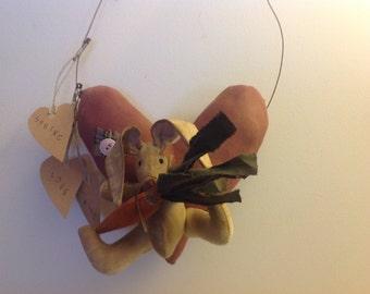 Bunny Heart Hanger
