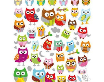 Owl Stickers • Owl Love • Owl Birthday • Kawaii Sticker • Cute Owl • Owl Party • Owl Sticker (SK4238)