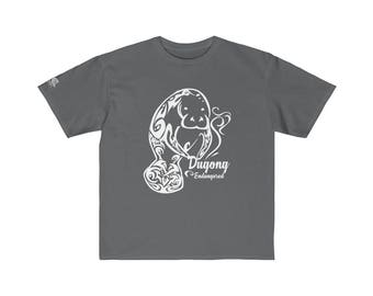 Youth Retail Fit Tee  Dugong White Print