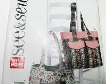 tote/purse craft pattern, see and sew, easy craft pattern