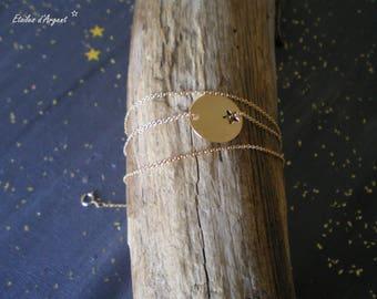 Triple chain bracelet and Locket