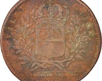 france token royal ville de dijon 1722 ef(40-45) copper