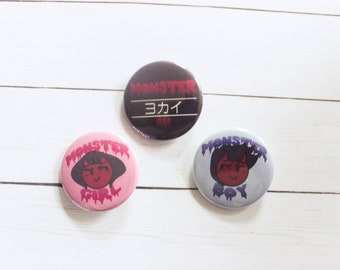 "Monster Tropes 1.5"" Pinback Buttons 