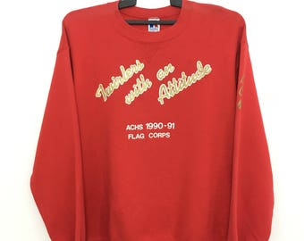 Vintage 90's RUSSELL ATHLETIC Sweatshirt Jumper Crewneck Made In Usa