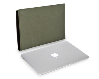 Apple MacBook Pro Touch Bar case in Cordura Olive to fit 13 and 15 inch