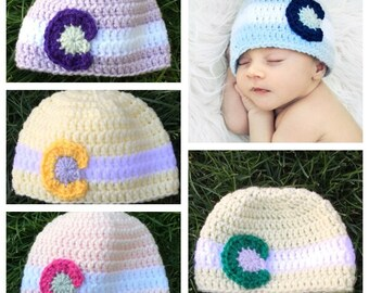 Crochet Colorado Flag Hat- Blue, pink, green, purple, yellow, Baby and Child sizes, Colorado hat, Colorado flag, Colorado Beanie