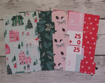 Winter Town - Planner Dividers - Personal Dividers - Divider Set