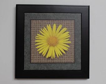 Black framed Flower Print