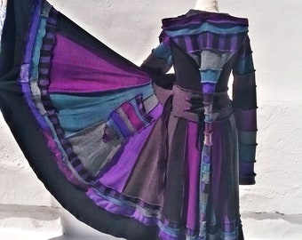 Custom made fairy coat using recycled sweaters