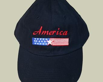 SALE! America Banner Black Baseball Cap