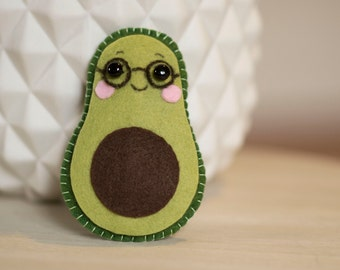 Mini avocado plush felt