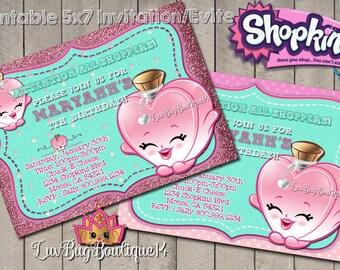 Shopkins Invitation - Shopkins Invite - Shopkins Birthday Printable Invitation - Personalized Shopkins Invite - DIGITAL FILE