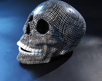 Hand painted ceramic skull