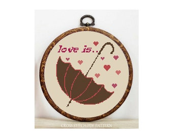 Love is... -Cross Stitch Pattern-Modern Sampler-Pdf-Instant Download
