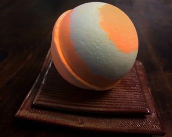 Atomic Orange Bath Bomb/ Large Size/ Handmade/ Goat's Milk/ Mango Butter