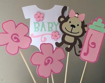 Monkey Baby Shower Invitation Template GIRL OR BOY