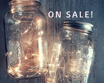 Mason jar light, Centerpiece Lights, Country Wedding, Rustic Wedding, Decorations, Wedding Table Lights, 20 Lights, Batteries *No Jar