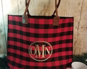 Women's Plaid Tote