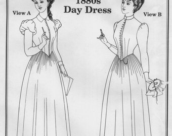 PP903 - Past Patterns #903, 1888-1892 Day Dress Sewing Pattern
