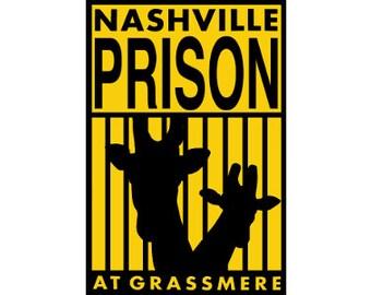"""Nashville Prison Sticker 3""""x4.5"""" Zoo"""