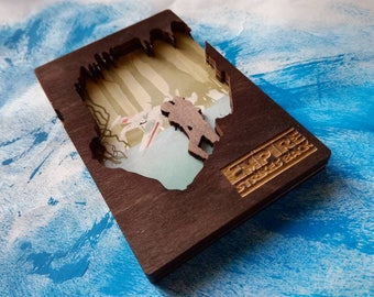 Star Wars Empire Strikes Back Wooden Magnet
