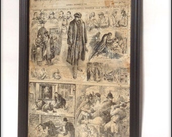 Aged Reproduction Victorian Police News Jack the Ripper cover - Nov 24th 1888.