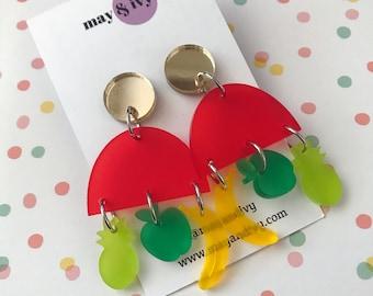 Tutti Frutti Dangle Earrings