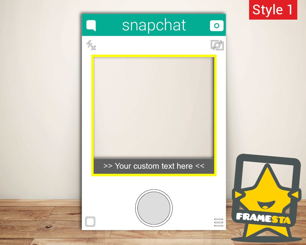 Snapchat Frame Custom Made Instant Photo booth Physical