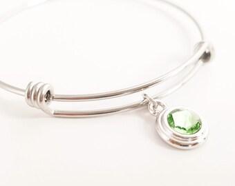 Mothers Bracelet - Mother Bracelet - Grandma Bracelet - Birthstone Bracelet - Adjustable Birthstone Bracelet - Stacking Bracelet - Layering