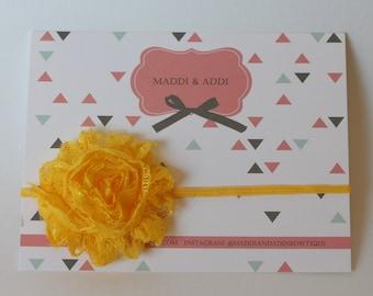 SALE Lace Sunflower Yellow Shabby Headband