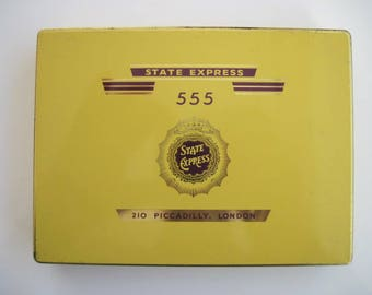 State Express 555 cigarette tin (50) by Ardath Tobacco co ltd c.1950's
