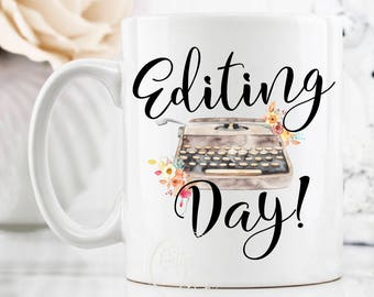 Gift For Writer Mug, Editor Mug, Gift For Editor, Author Mug, Writer Mugs, Journalist Mug, Writer Coffee Mugs, Vintage Typewriter Mug