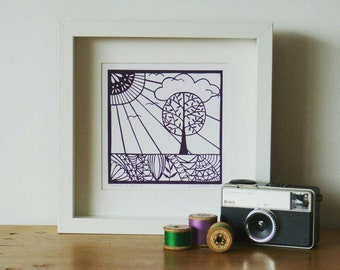 Summer is Coming - a giclee print taken from an original paper cut by Loula Belle at Home
