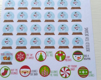 Christmas To Dos and Snow Globe Countdown (Set of 34) Item #065
