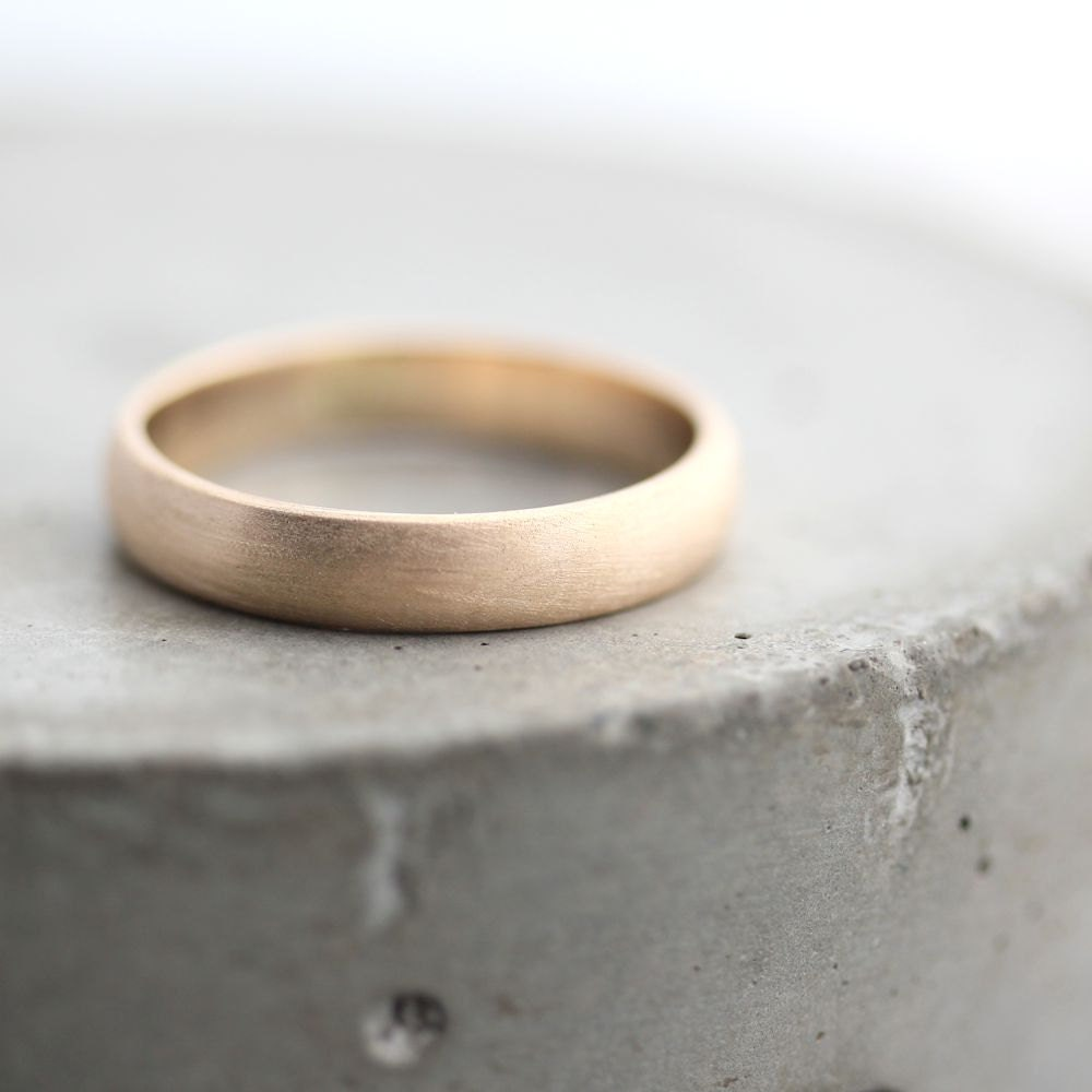 Gold Men\'s Wedding Band Brushed Men\'s or Women\'s