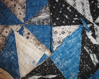 Antique Calico Quilt Pieces | Vintage Calico Quilt Pieces | Old Cutter Quilt Pieces | 4 Cutter Quilt Pieces |  Old Calico Fabric