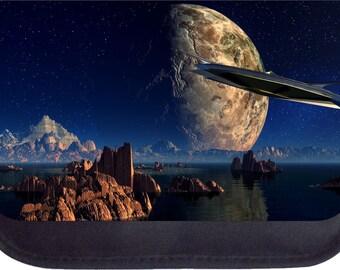 Space Meets Earth Landscape - Black Pencil Bag - Pencil Case