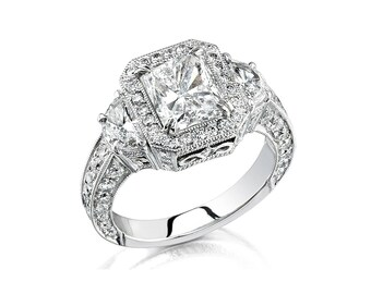 Diamond Crown Engagement Ring in Platinum (1.00 ctw Diamonds) (Center Stone Not Included)