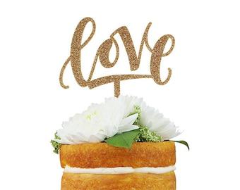 Love Modern Cake Topper