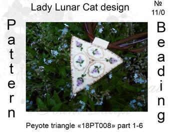 Lilac peyote patterns, Triangle Peyote pattern,  Peyote patterns, Spring peyote, Flowers patterns, Beading, Seed beads, Peyote stitch