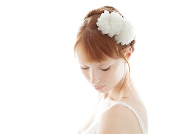 Bridal Hair Comb, Silk Flower Combs, Bridal Headpiece, Silk Hair Flowers, Ivory Headpiece, Bridal Hair Flower, Wedding Hair Comb - Together