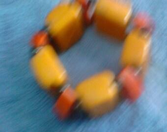 Artisan Bakelite drawer handle bracelet