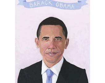 """5x7"""" print - Barack Obama"""