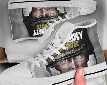 Call of Duty Shoes COD Sneakers high Tops, Colorful sneakers High Tops Men's Shoes Women's Shoes, Looks like Converse, Gift for him her