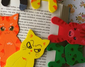 foam bookmarks cats colourful
